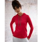 Womens Fashion Basic Long Sleeve Hooded Tee
